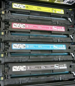 HP 131A Toner 50% - 70% Cyan Yellow Magenta & Black which is very low
