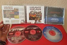 ANTIGUO JUEGO PC ORDENADOR CD ROM LOTE HEAVY GEAR I II 1 Y 2 SIMULADOR DE COMBAT