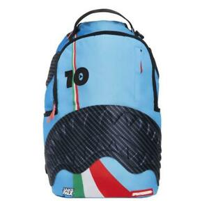 Brand New SPRAYGROUND Lambros Italy Italia Blue Rubber Shark Deluxe Bag