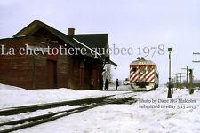 "Canadian Pacific Railway   La Chevtotiere Quebec  1978 4x6"" photo a"