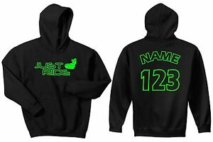 JUST RIDE STAND UP JET SKI PWC SLED CUSTOM RACE NUMBER YOUTH HOODIE SWEAT SHIRT