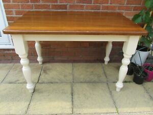 Solid Pine Kitchen Dining Table Country Cottage