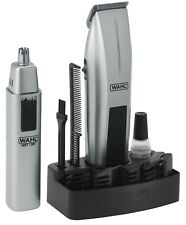 WAHL 5537-420 12-Pc Mustache Beard Nose Battery-Operated Travel Trimmer Set