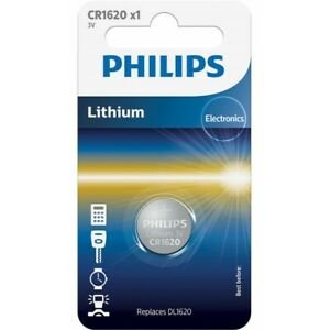 CR1620 3V Philips Lithium Coin Button Cell Battery DL1620, ECR1620,BR1620