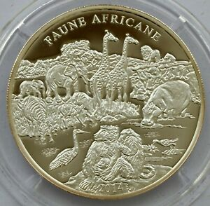 IVORY COAST 500 FRANCS 2014 AFRICAN FAUNA WILDLIFE SILVER PROOF COIN