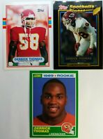 Lot of 3 DERRICK THOMAS Rookie RC Cards, 89 Topps Score Finest, Cheifs, Alabama