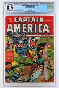 Captain America Comics #8 - CGC 8.5 VF+ Timely 1941 (Conserved) 2nd HIGHEST!!!