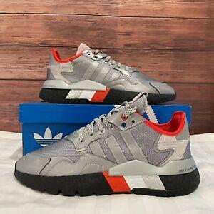 Adidas Nite Jogger 3M Silver Metallic Men's Running Athletic Sneaker FV3787