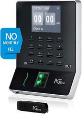 Ngteco Time Clock Biometric Fingerprint Employees Attendance Machine With App