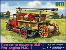 UniModels — Fire-engine PMG-1 — Plastic model kit 1:48 Scale #510