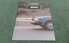 1981 VOLVO 240 244 SALOON DL GL GLE GLT - UK BROCHURE
