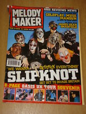 MELODY MAKER 2000 AUG 9 SLIPKNOT COLDPLAY MUSE MANSUN