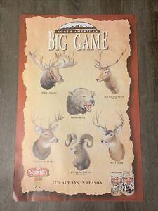 Schmidt's Beer North American Big Game Poster