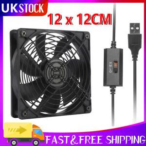120mm USB 5V Case Computer PC CPU Cooler Cooling Fan Highspeed Silent Black UK