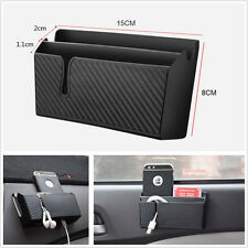 Car Air Vent Storage Box Phone Charging Holder Pocket Cigarette Ticket Organizer