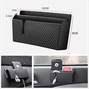 Car Air Vent Storage Box Phone Charging Holder Pocket Cigarette Ticket Organizer