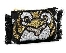 Disney Store Aladdin Rajah Face Jasmine Tiger Sequin Clutch Bag Zipped Purse NEW
