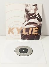 "Kylie Minogue WHAT DO I HAVE TO DO  7"" VINYL UK Import 1990 PWL 72"