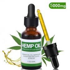 Hemp Seed Oil 5000mg 30ml 100% Pure Organic Natural Anti-Aging Herbal Drops UK
