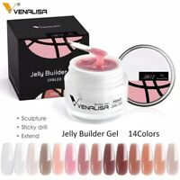 Venalisa Nail Art French Poly Gel Fibreglass Hard Jelly Builder Nail Extend Gel