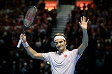 Brand New Roger Federer Uniqlo Shanghai & Basel 2018 Pink Tennis Shirt XL = L