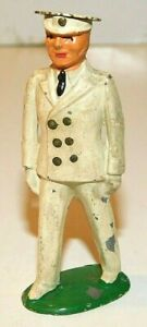 Old BARCLAY 1930s Dimestore Soldier, Navy Ensign, White Uniform Tin Top Hat, B54