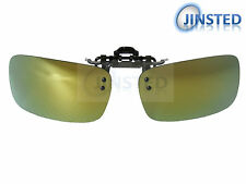 High Quality Green Clip On Mirrored Polarised Mirrored Sunglasses Clip-On ACP023