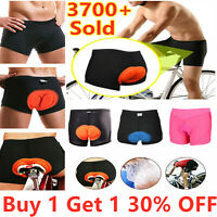 Men Women Cycling Shorts Bicycle Bike Underwear Pants Soft Sponge Gel 3D Padded