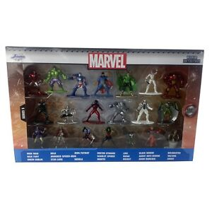 Jada Toys Marvel 20 Pack Die-Cast Collectible Figures Nano Metalfigs Wave 5 New