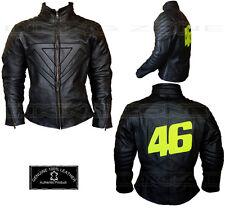 Valentino Rossi Style pour Hommes Noirs Moto / Veste Cuir Moto