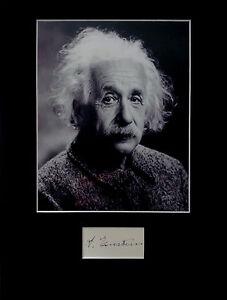 ALBERT EINSTEIN signed autograph PHOTO DISPLAY Physics Relativity