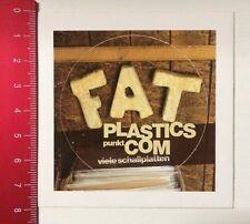 Aufkleber/Sticker: FAT Plastics Punkt Com - Viele Schallplatten (140316137)
