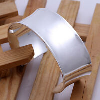 Cool 925Sterling  Silver 7CM Big Wide 1837 Men Women Bangle Cuff Bracelet GB042