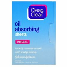 clean & clear Oil Absorbing Sheets, Portable, 50 Sheets