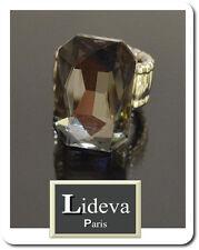 Luxus Ring Damenringe Fingerringe Kristall Lideva  Paris Elastisch Versilbert