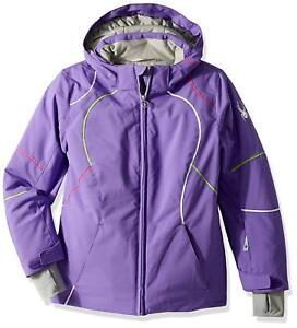 Spyder Girl's Tresh Ski Jacket, Iris/Fresh/Burst- Size 8