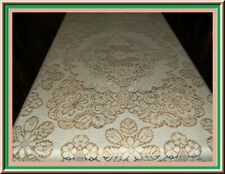 LOVELY VITAGE QUAKER LACE IVORY TABLECLOTH 72X50
