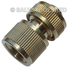 """Brass Quick Connector Snap On Fittings for Garden Water Tap Hose 1/2"""" 12mm"""