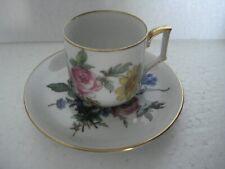 Mitterteich Bavaria Germany DEMITASSE Tea Cup & Saucer Floral #40