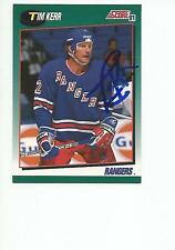 TIM KERR Autographed Signed 1991-92 Score Traded card New York Rangers Flyers