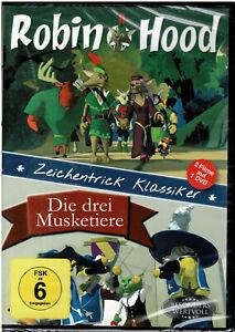 Robin Hood - Die drei Musketiere (DVD) 2 Filme Zeichentrick Klassiker - NEU&OVP