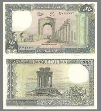 Lebanon P67e 250 Livres,  ruins  / Grand Temple - 1988 UNC Large Beauty! $4+ CV!