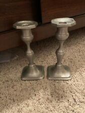 Vintage. Authentic Towle Pewter Candlestick Holders. #7672