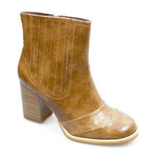 Zip Block Heel Synthetic Textured Boots for Women