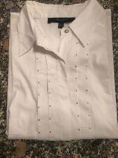 Élégant Chemisier Femme Manches Longues UN JOUR AILLEURS Taille  42  Blanc
