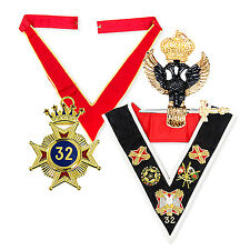 BARGAIN Rose Croix 32nd Degree Pack Collarette, sash, Star Eagle masons regalia