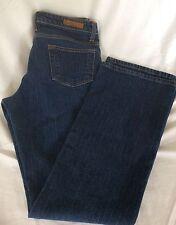 Women's Polo Jeans Ralph Lauren Boot Cut Size 8 X 32 Dark Blue Wash