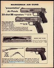 1974 MARKSMAN Presentation BB MPR Air Pistol Shorty & 4000 Air Rifle AD