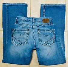 BKE Buckle Mens Fulton Button Fly Blue Jeans 28 Short