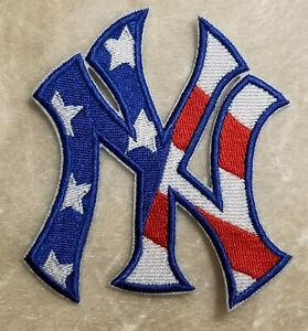 New York Yankees Red, White & Blue NY Iron /Sew On Embroidered Patch~FREE Ship!